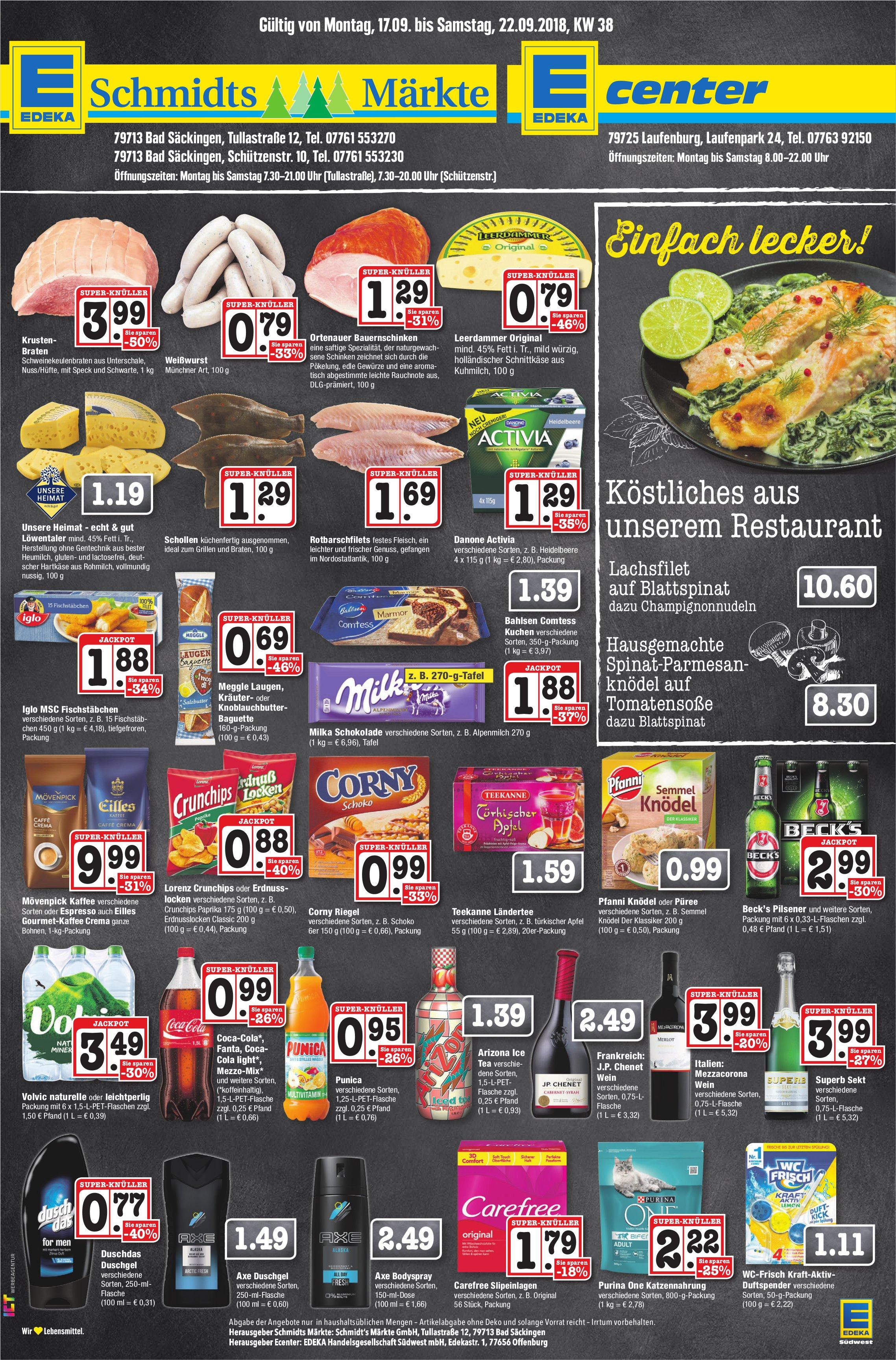 EDEKA Schmidts Märkte - Angebote vom 17. bis 22. September