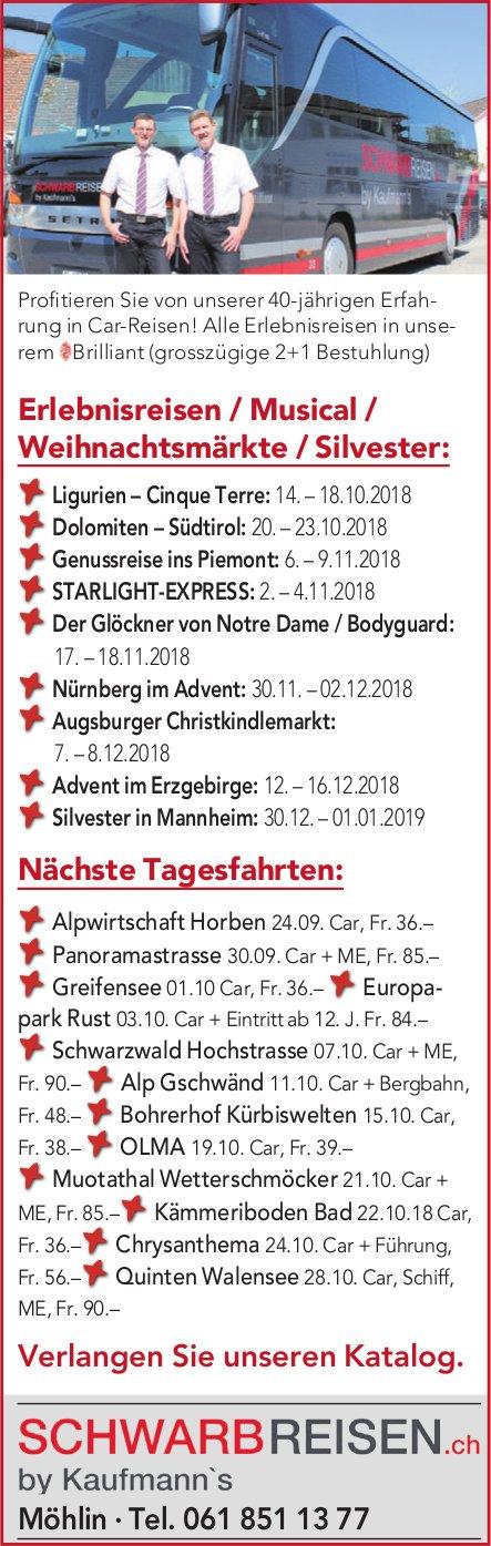 Schwarb Reisen.ch - Programm & Events