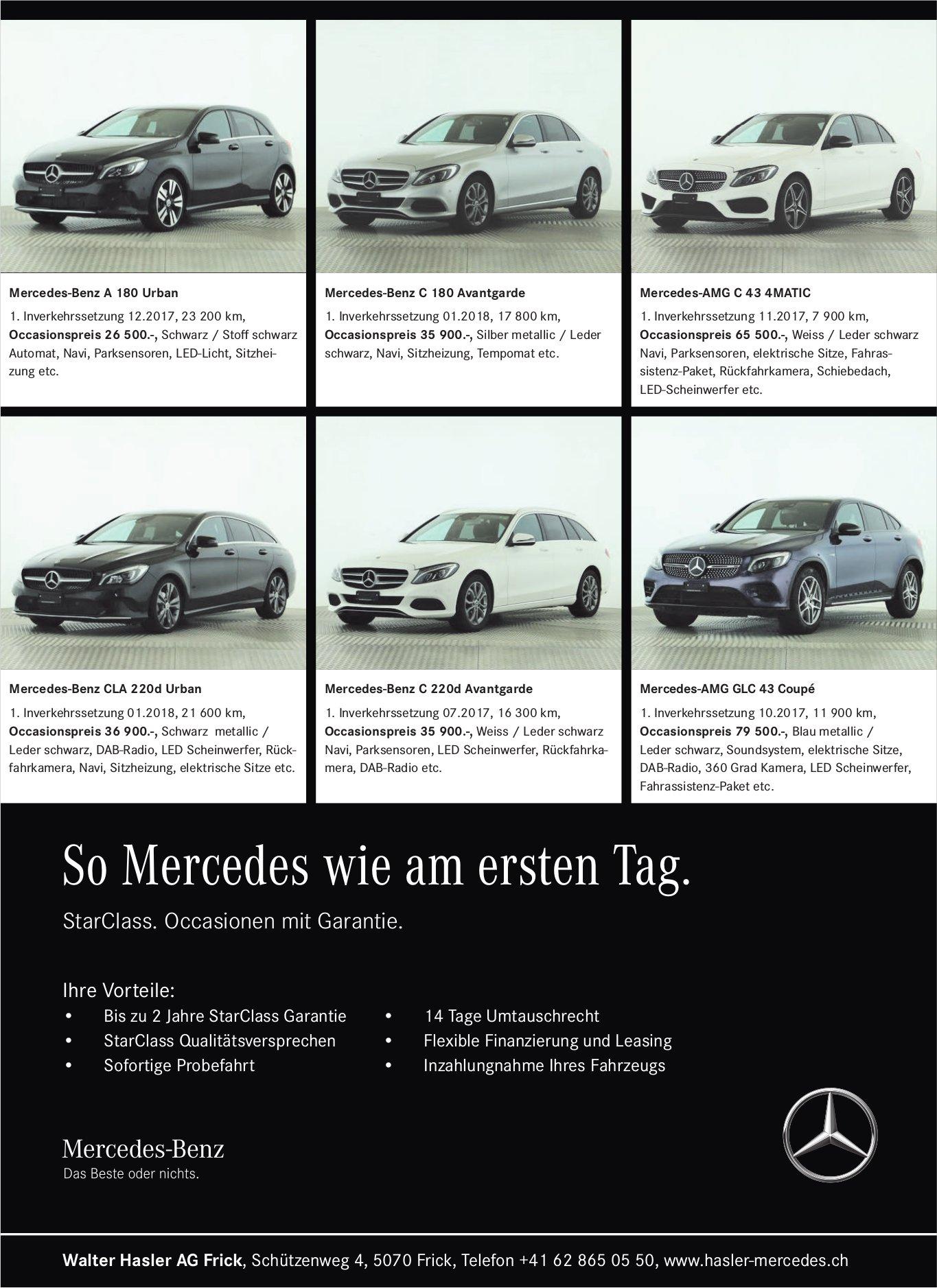Walter Hasler AG Frick - So Mercedes wie am ersten Tag.