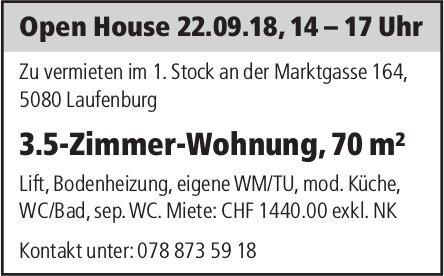 3.5-Zimmer-Wohnung, 70 m² in Laufenburg zu vermieten: Open House am 22. September