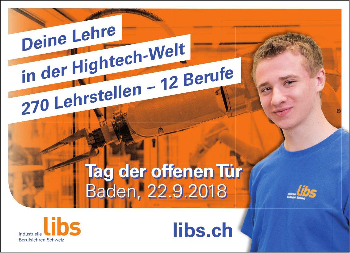 Libs - Deine Lehre in der Hightech-Welt : Tag der offenen Tür am 22. Sept.
