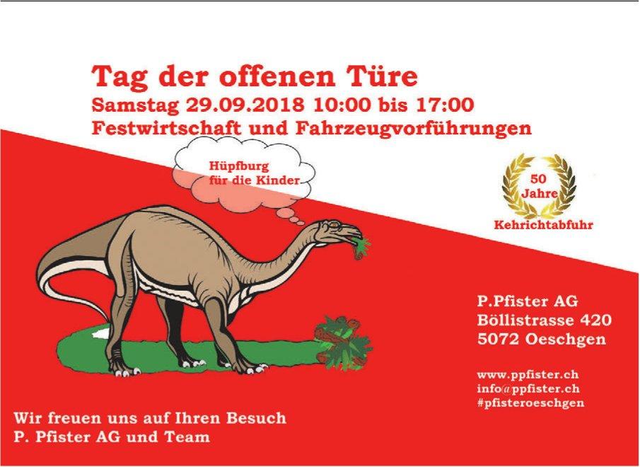 P. Pfister AG - Tag der offenen Türe am 29. September