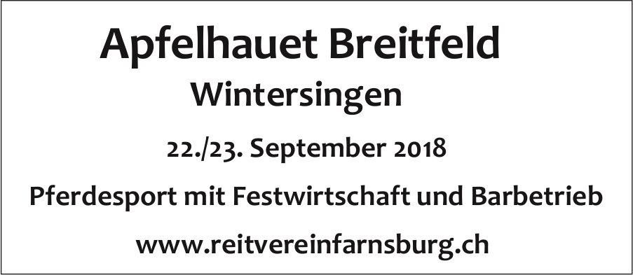 Apfelhauet Breitfeld, Wintersingen, 22./23. September