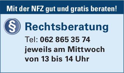 Rechtsberatung - Mit der NFZ gut und gratis beraten!