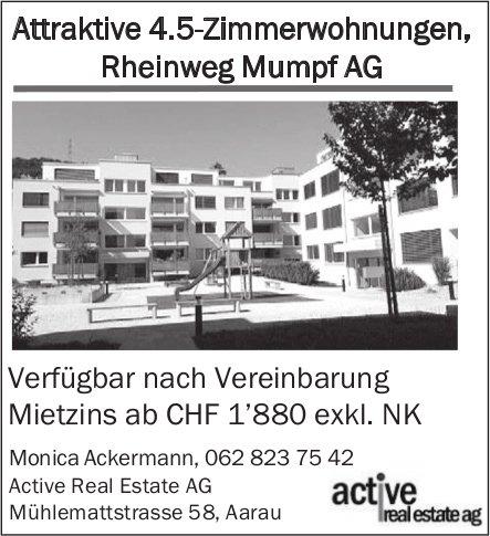 4.5-Zimmerwohnungen, Mumpf AG, zu vermieten