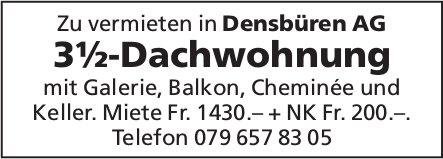 3½-Dachwohnung in Densbüren AG zu vermieten