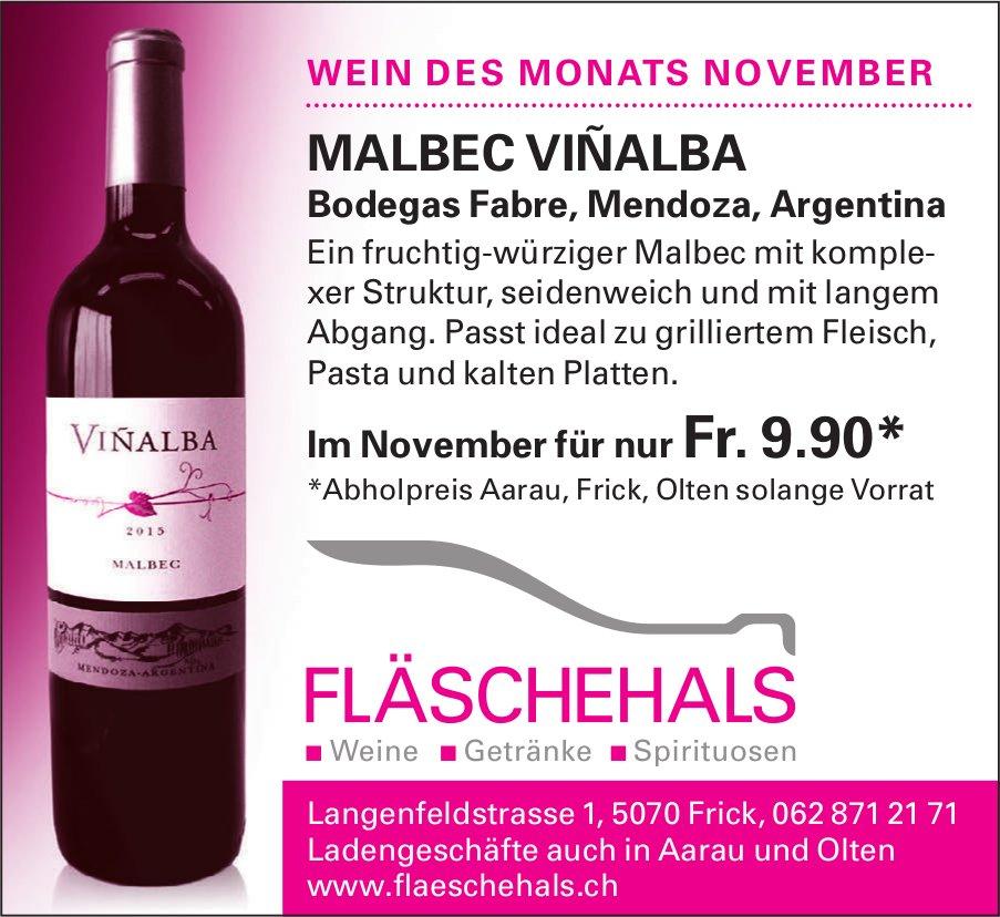 FLÄSCHEHALS - WEIN DES MONATS NOVEMBER: MALBEC VIÑALBA FÜR NUR Fr. 9.90