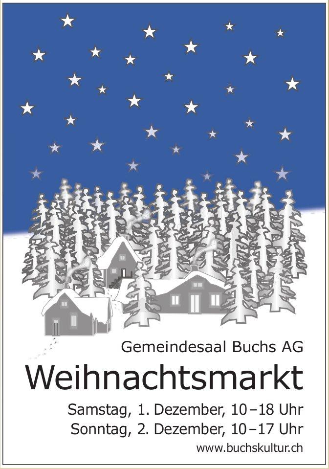 Gemeindesaal Buchs AG - Weihnachtsmarkt, 1. + 2. Dezember