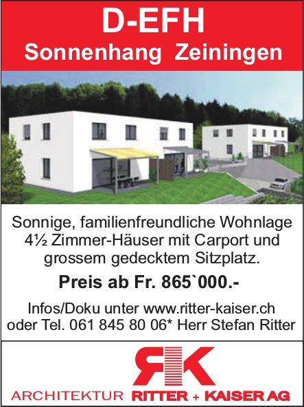 4½ Zimmer-Häuser mit Carport und grossem gedecktem Sitzplatz in Zeiningen zu verkaufen