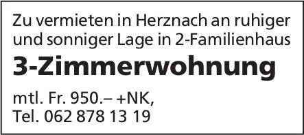 3-Zimmerwohnung in 2-Familienhaus in Herznach zu vermieten
