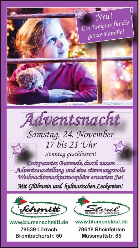 Blumen Schmitt/ Blumen Steul - Adventsnacht am 24. November