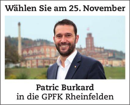 Patric Burkard in die GPFK Rheinfelden - Wählen Sie am 25. November