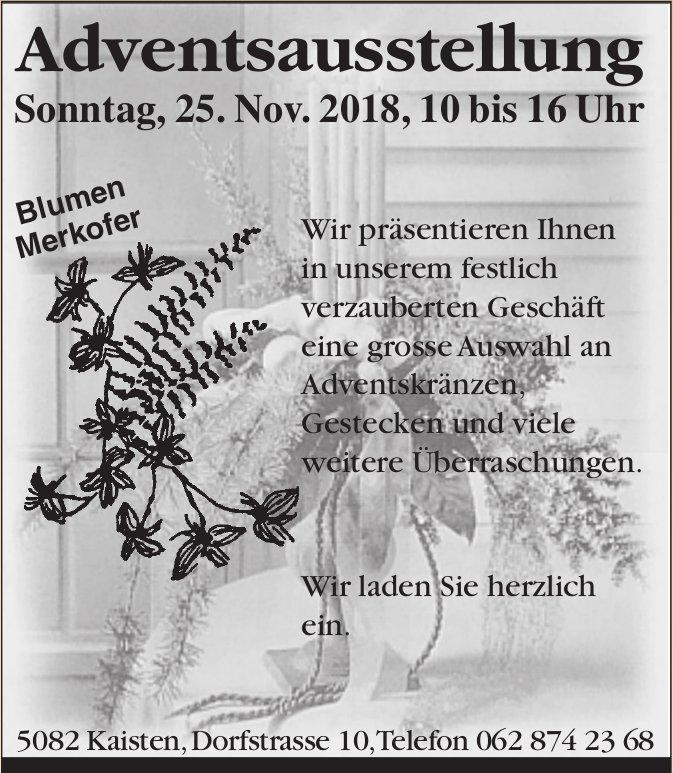 Blumen Merkofer - Adventsausstellung am 25. November