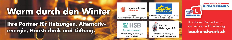 Warm durch den Winter - Ihre Partner für Heizungen, Alternativenergie, Haustechnik und Lüftung.