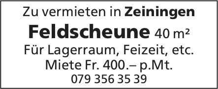 Feldscheune 40 m² in Zeiningen zu vermieten