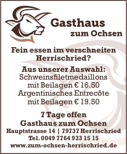 Gasthaus zum Ochsen - Fein essen im verschneiten Herrischried?