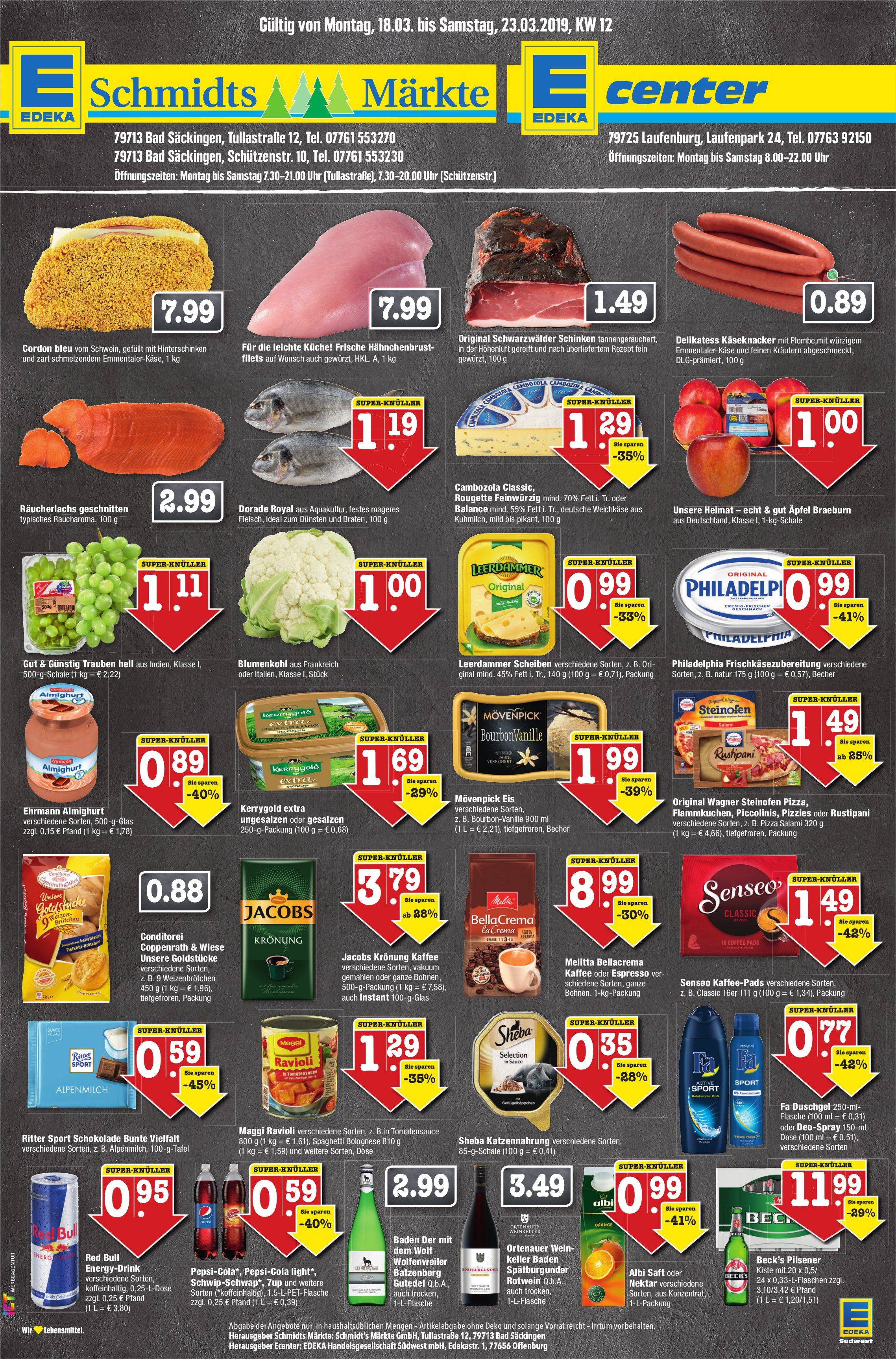EDEKA Schmidts Märkte / EDEKA  Center - Angebote vom 18. bis 23. März