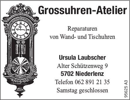 Ursula Laubscher Grossuhren-Atelier - Reparaturen von Wand- und Tischuhren