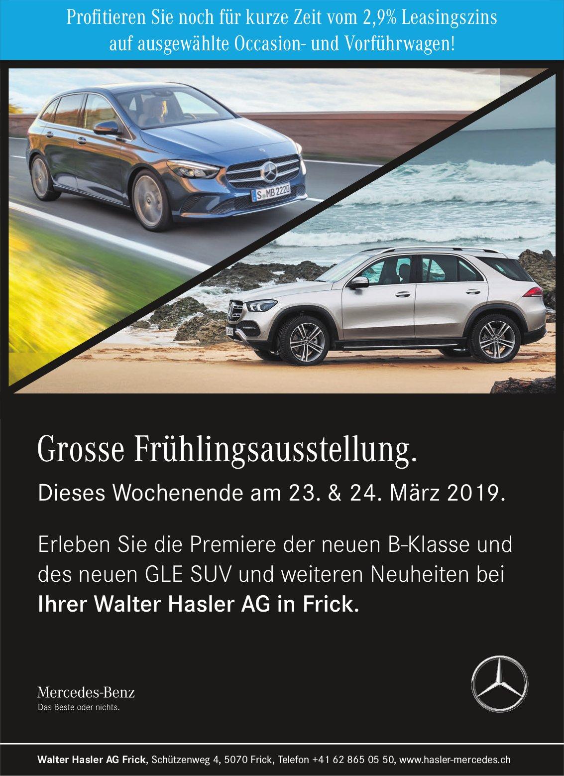Walter Hasler AG Frick - Grosse Frühlingsausstellung, 23. & 24. März