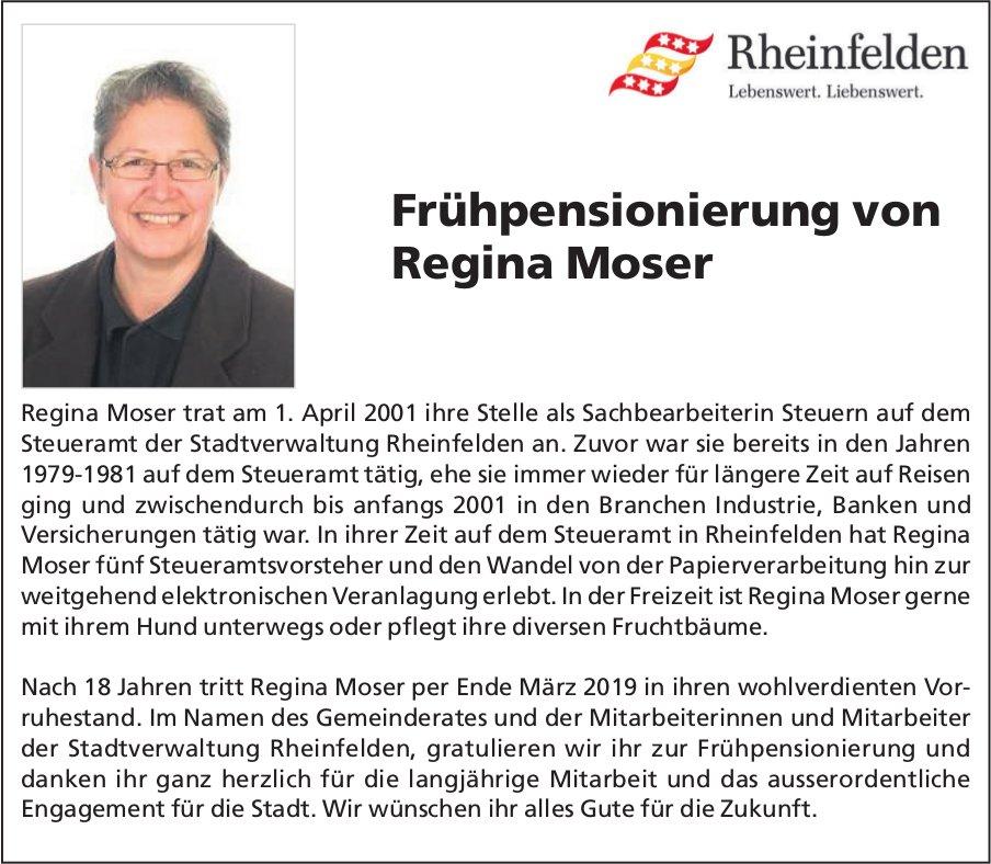 Steueramt Rheinfelden - Frühpensionierung von Regina Moser