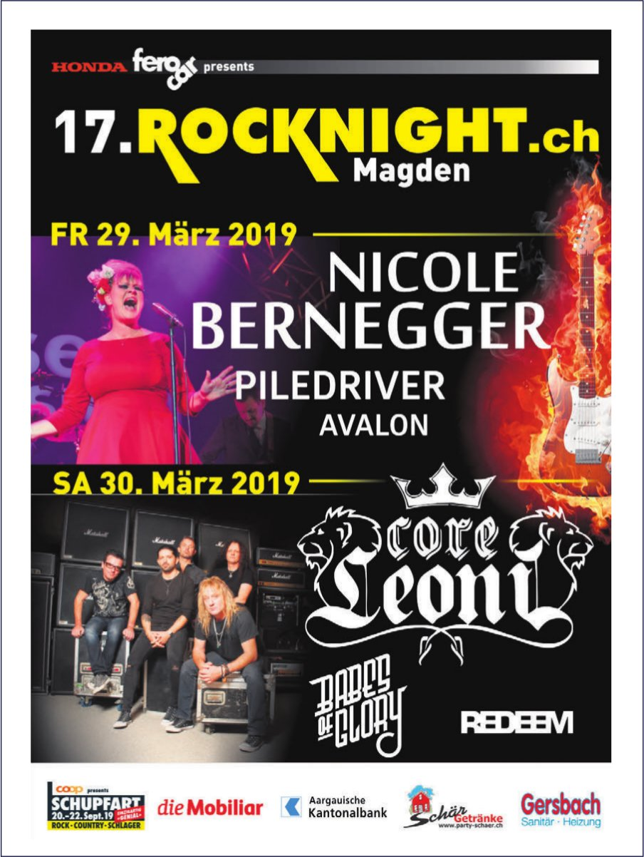 17. Rocknight.ch Magden, 29. + 30. März