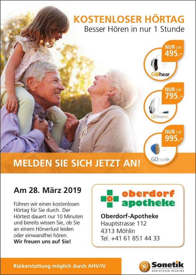 Oberdorf-Apotheke - Kostenloser Hörtag am 28. März
