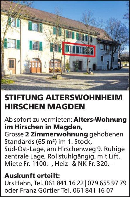Grosse 2 Zimmer Alters-Wohnung im Hirschen in Magden zu vermieten