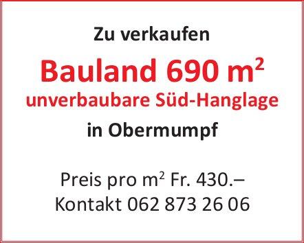Zu verkaufen Bauland 690m2 in Obermumpf