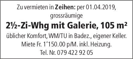 2½-Zi-Whg mit Galerie, 105 m² in Zeihen zu vermieten