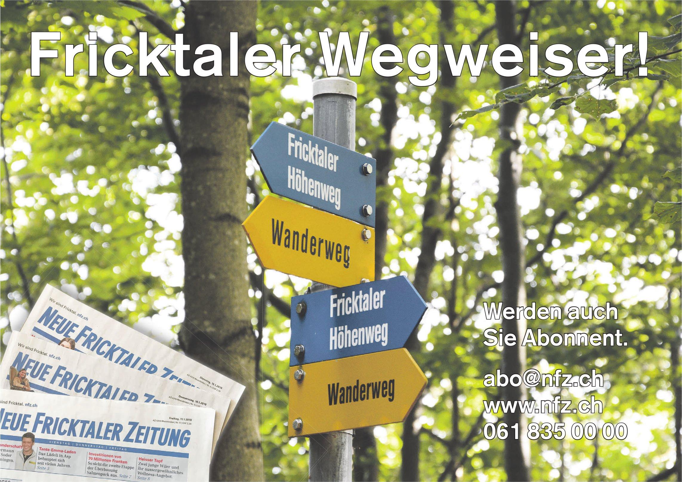 NFZ - Fricktaler Wegweiser! Werden auch Sie Abonnent.