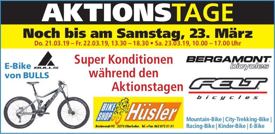 Hüsler Bike Shop - Aktionstage bis 23. März