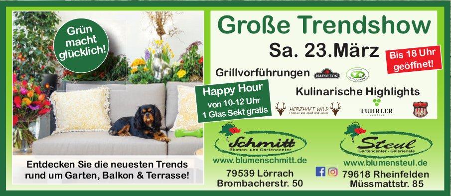Blumen Schmitt/ Blumen Steul - Große Trendshow am 23. März