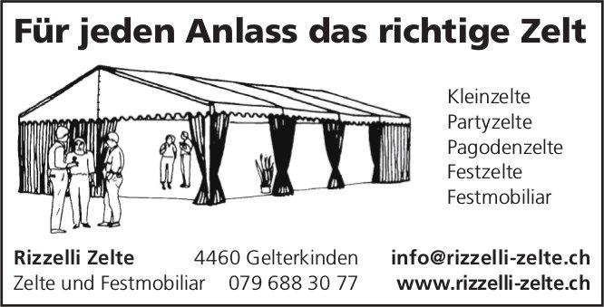 Rizzelli Zelte - Für jeden Anlass das richtige Zelt