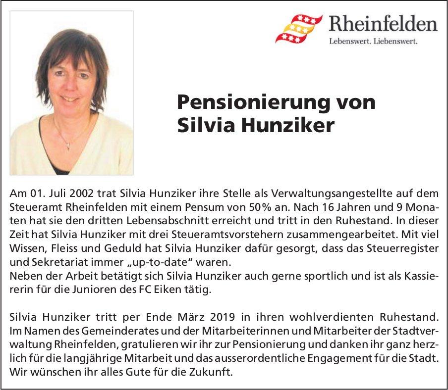 Steueramt Rheinfelden - Pensionierung von Silvia Hunziker