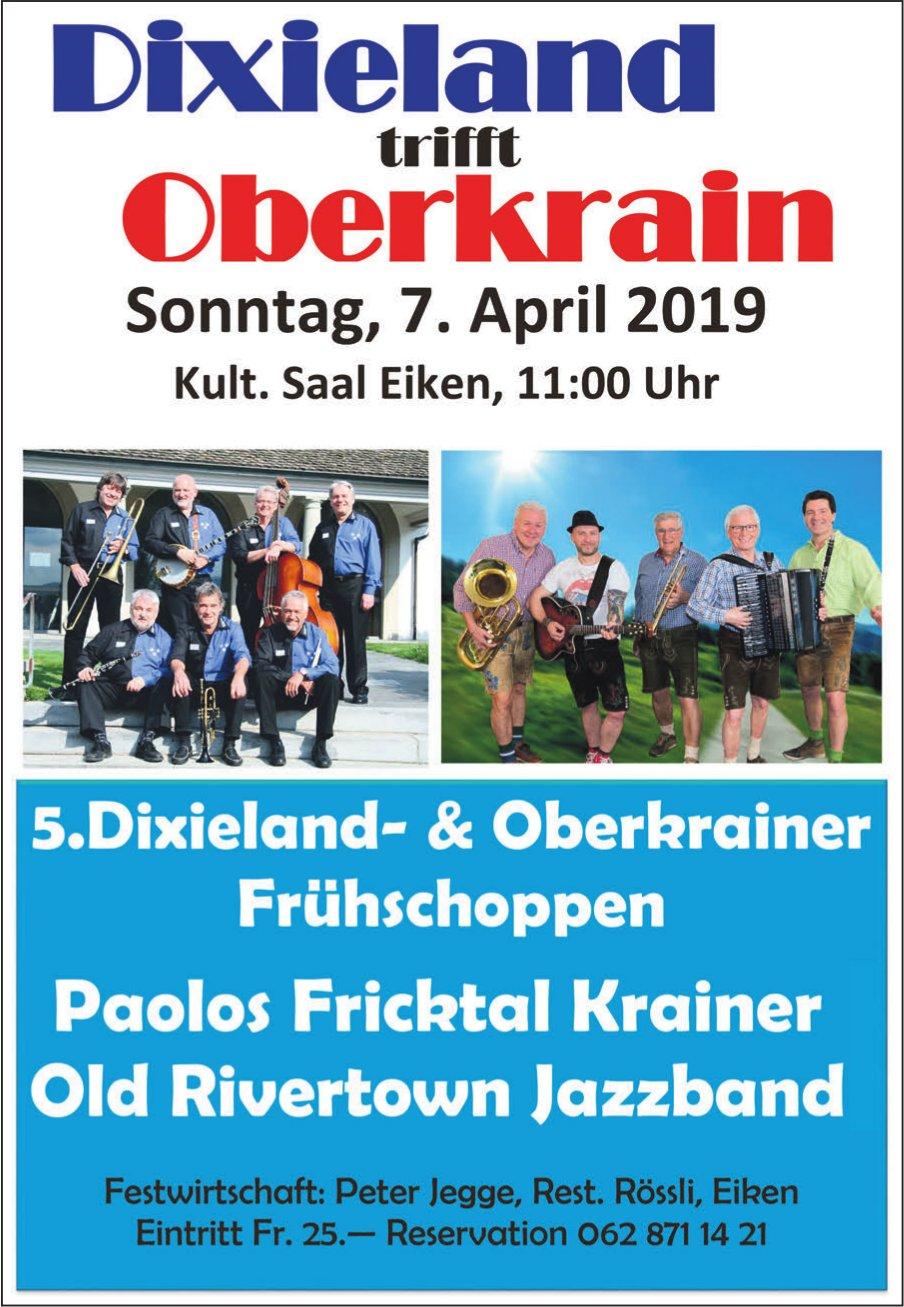 Dixieland trifft Oberkrain am 7. April in Eiken