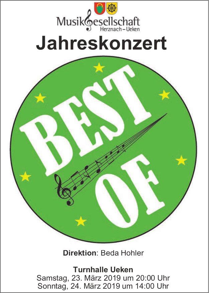 Musikgesellschaft Herznach/Ueken - Jahreskonzert BEST OF, 23. + 24. März