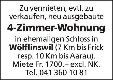 4-Zimmer-Wohnung in Wölflinswil zu vermieten, evtl. zu verkaufen