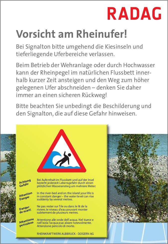 RADAG - Vorsicht am Rheinufer!
