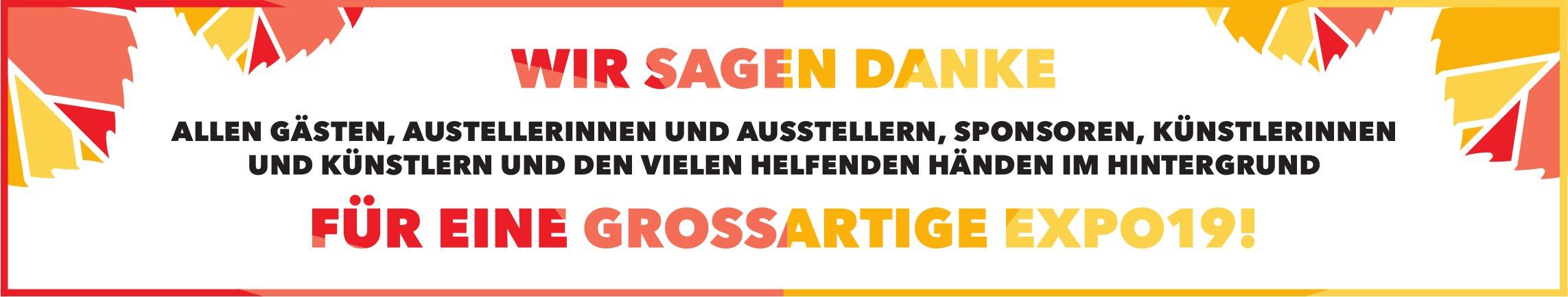 WIR SAGEN DANKE FÜR EINE GROSSARTIGE EXPO19 !