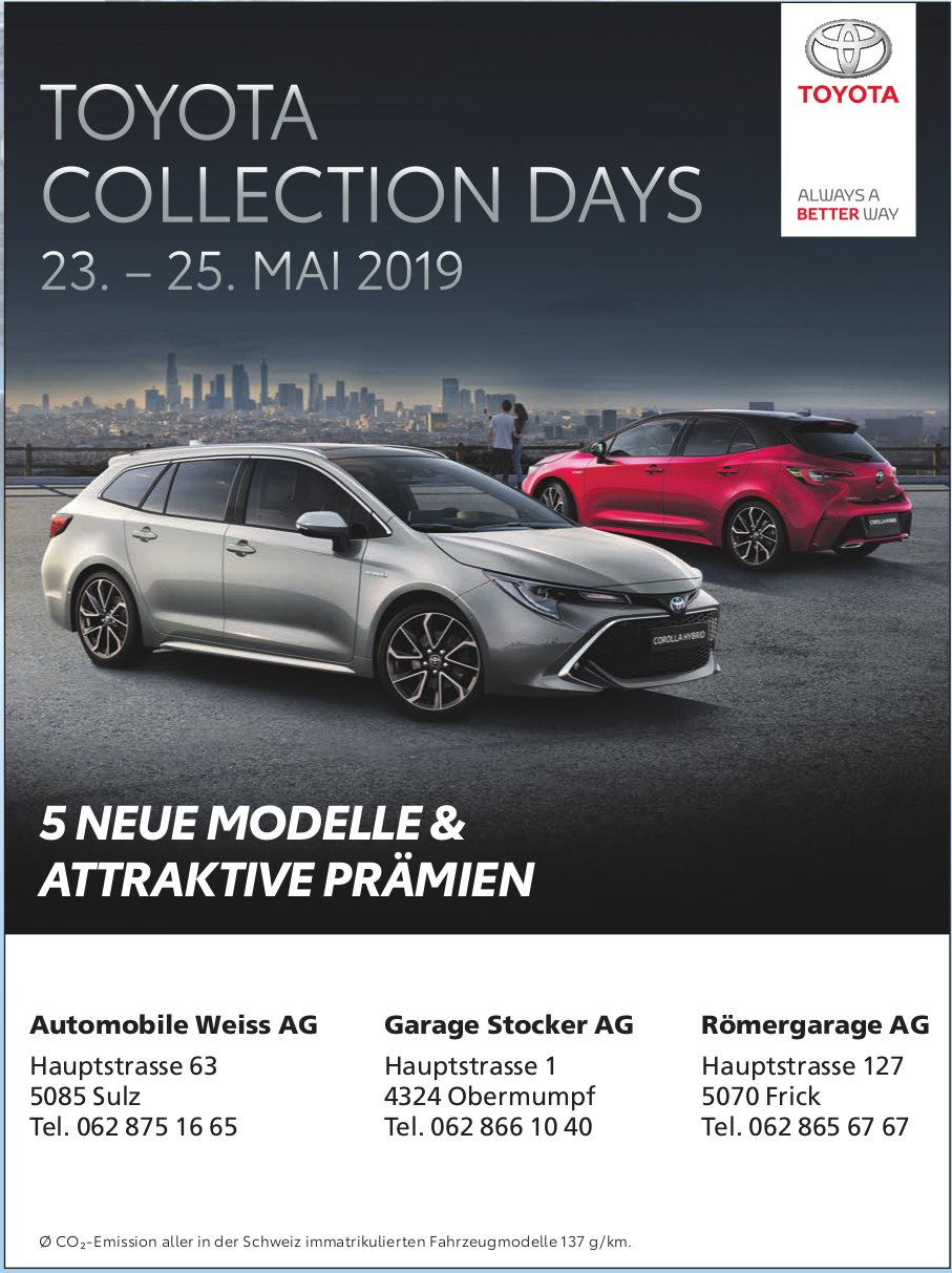 TOYOTA COLLECTION DAYS, 23. — 25. MAI 2019