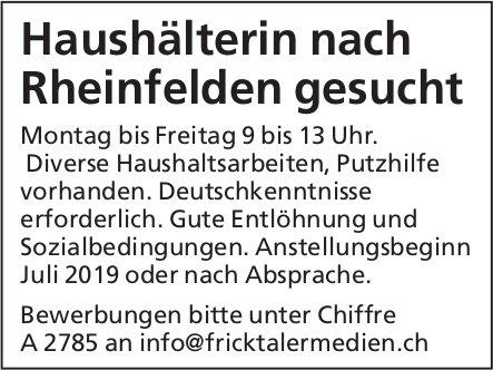 Haushälterin nach Rheinfelden gesucht