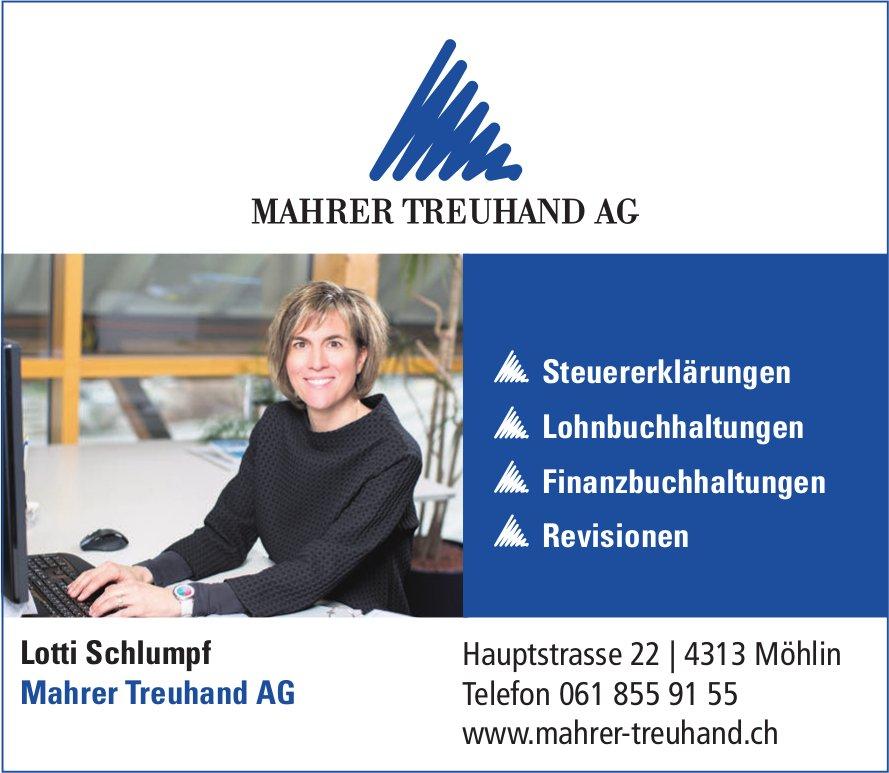 MAHRER TREUHAND AG - Steuererklärungen, Lohnbuchhaltungen, Finanzbuchhaltungen