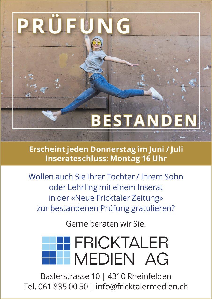 FRICKTALER MEDIEN AG, Rheinfelden - PRÜFUNG BESTANDEN...