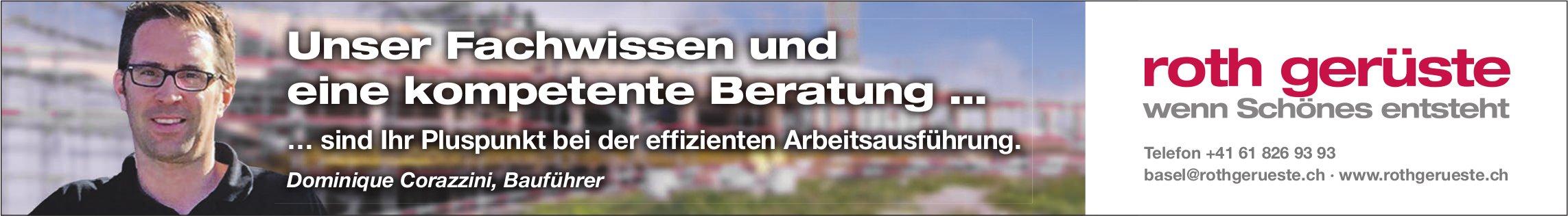 Roth Gerüste, Basel - Unser Fachwissen und eine kompetente Beratung …