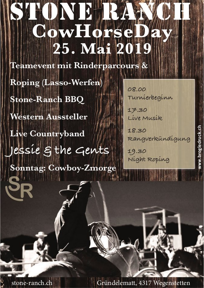 STONE RANCH,  CowHorseDay, 25. Mai, Wegenstetten