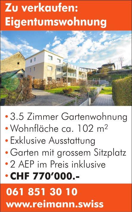 3.5 Zimmer Garten- Eigentumswohnung zu verkaufen