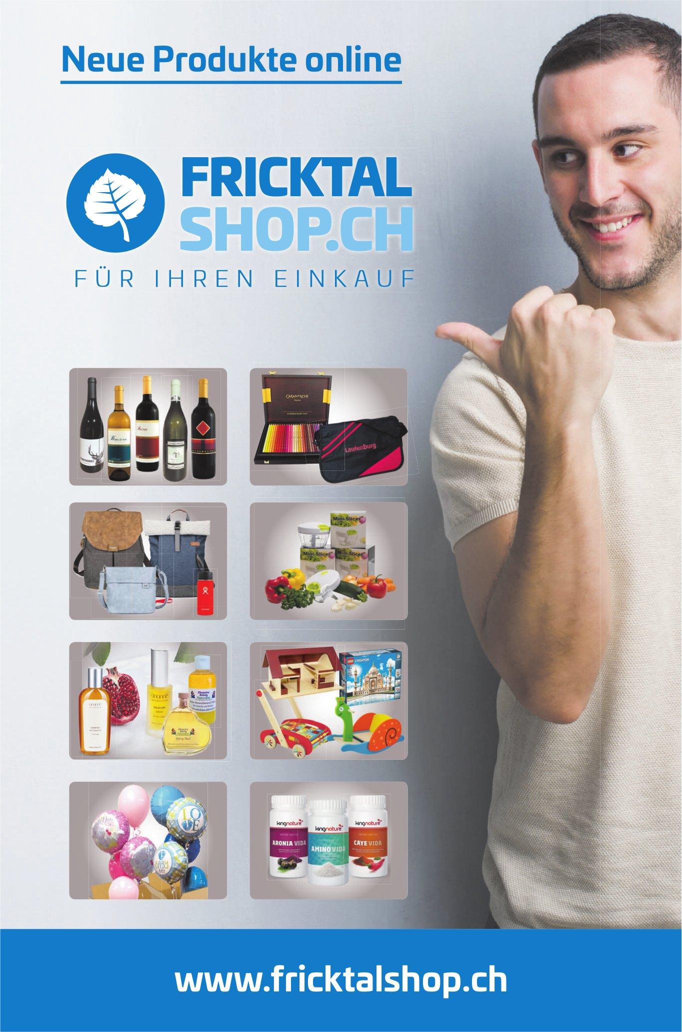 FRICKTAL SHOP.CH - Neue Produkte online