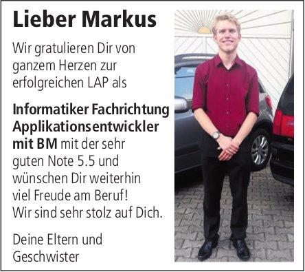 Lieber Markus, wir gratulieren Dir von ganzem Herzen zur erfolgreichen LAP