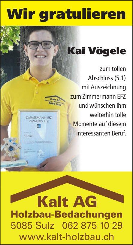 Kalt AG Holzbau-Bedachungen - Wir gratulieren Kai Vögele zum tollen Abschluss (5.1)