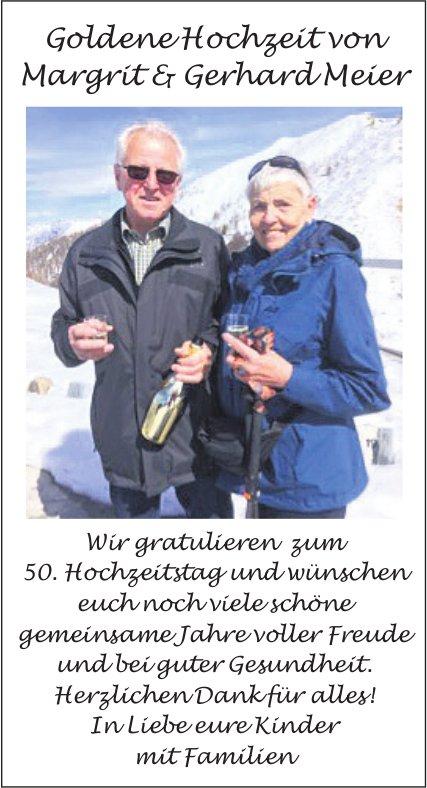 Goldene Hochzeit von Margrit & Gerhard Meier - Wir gratulieren zum 50. Hochzeitstag